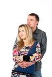 Portrait eines schönen jungen glücklichen lächelnden Paares Stockbild