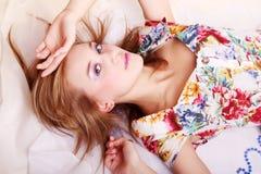 Portrait eines schönen Mädchens stockfoto