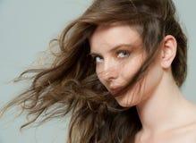 Portrait eines schönen Mädchens Stockbild
