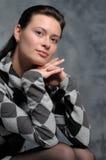 Portrait eines schönen Mädchens im Studio Stockbild