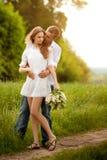 Portrait eines schönen Paares Lizenzfreie Stockfotos