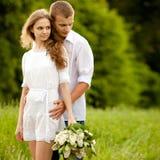Portrait eines schönen Paares Lizenzfreies Stockbild