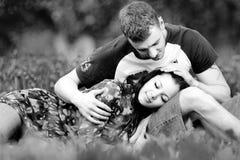 Portrait eines schönen Paares Stockfotografie