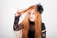 Portrait eines schönen Redhead gir stockbild