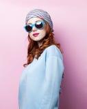 Portrait eines schönen Redheadmädchens Lizenzfreies Stockfoto