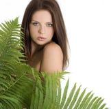 Portrait eines schönen reizvollen Mädchens lizenzfreies stockfoto