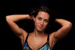 Portrait eines schönen Tanzenmädchens lizenzfreie stockfotografie