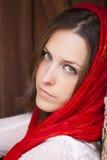 Portrait eines spanischen Brunette Lizenzfreie Stockfotos