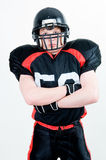 Portrait eines Spielers des amerikanischen Fußballs Lizenzfreies Stockbild