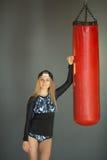 Portrait eines Sportmädchens stockfotos
