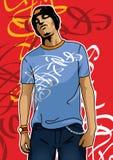 Portrait eines städtischen Jungen Stockfotos