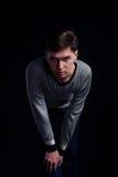 Portrait eines stattlichen jungen Mannes stockbilder