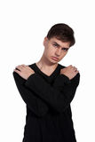 Portrait eines stattlichen jungen Mannes lizenzfreies stockfoto