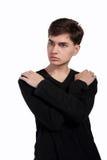 Portrait eines stattlichen jungen Mannes lizenzfreie stockfotos