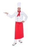 Portrait eines stattlichen Kochs Stockfotografie
