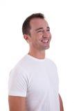 Portrait eines stattlichen Mittleralter Mannlächelns lizenzfreie stockbilder