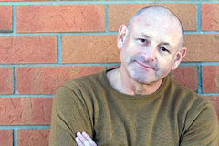 Portrait eines stattlichen mittleren gealterten Mannes lizenzfreies stockbild