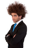 Portrait eines stattlichen und jungen Geschäftsmannes stockbilder