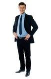 Portrait eines stilvollen Geschäftsmannes stockbild