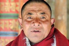 Portrait eines tibetanischen Mönchs Stockbild