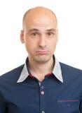 Portrait eines traurigen Mannes Stockbilder