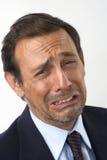 Portrait eines traurigen, schreienden Mannes Stockfotografie