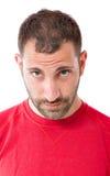 Portrait eines traurigen und schüchternen Mannes Lizenzfreies Stockfoto
