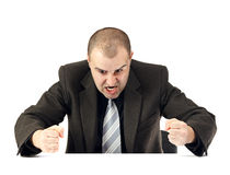 Portrait eines verärgerten Geschäftsmannes Stockfotografie