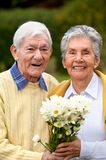Portrait of an elder couple Stock Photo
