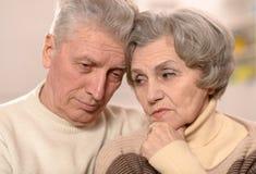 Portrait of an elder couple Royalty Free Stock Photos