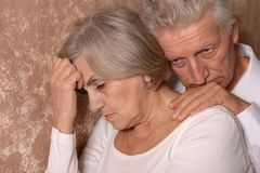Portrait of an elder couple Stock Photo