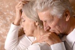 Portrait of an elder couple Stock Photos