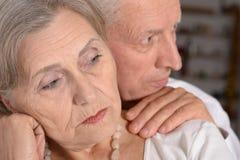 Portrait of an elder couple Royalty Free Stock Image