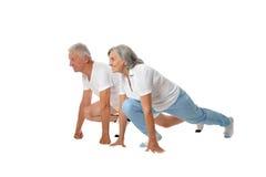 Portrait of  Elder  Couple Stock Photo