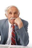 Portrait of an elder happy man stock photo