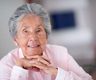 Portrait of an elder woman Stock Photography