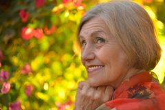 Portrait of an elder woman Stock Photo