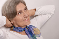 Portrait of an elder woman Stock Photos