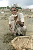 Portrait of elderly Bangladeshi worker, man Stock Photography