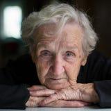 Portrait of an elderly beautiful woman closeup. Royalty Free Stock Photography