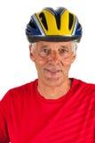 Portrait elderly biker royalty free stock photos
