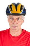 Portrait elderly biker Royalty Free Stock Photography