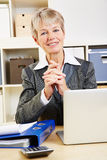 Portrait of elderly business woman Royalty Free Stock Image