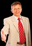 Portrait of elderly businessman Stock Photo