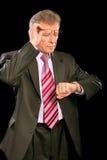 Portrait of elderly businessman Stock Photos