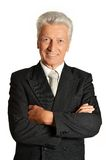 Portrait of an elderly businessman Royalty Free Stock Photography
