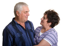 Portrait of an elderly couple. Royalty Free Stock Photography