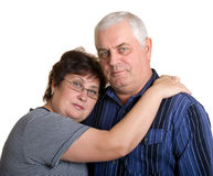 Portrait of an elderly couple. Stock Photo