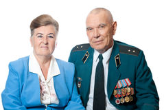 Portrait of an elderly couple Royalty Free Stock Image