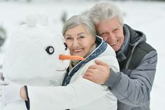 Portrait of elderly couple Royalty Free Stock Photo